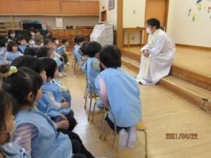 画像:越山司祭様のお話し